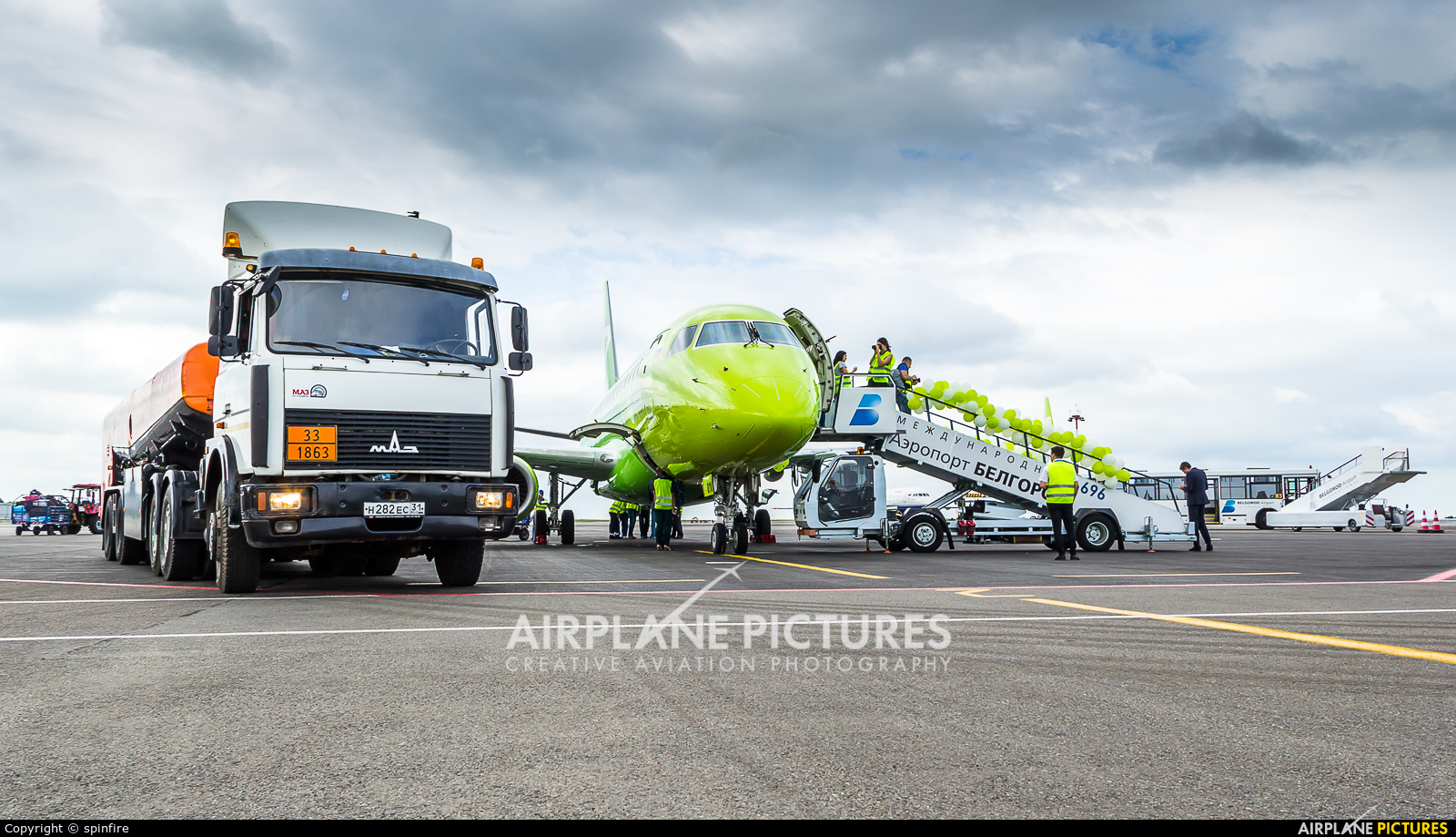 S7 Airlines VQ-BYW aircraft at Belgorod Intl