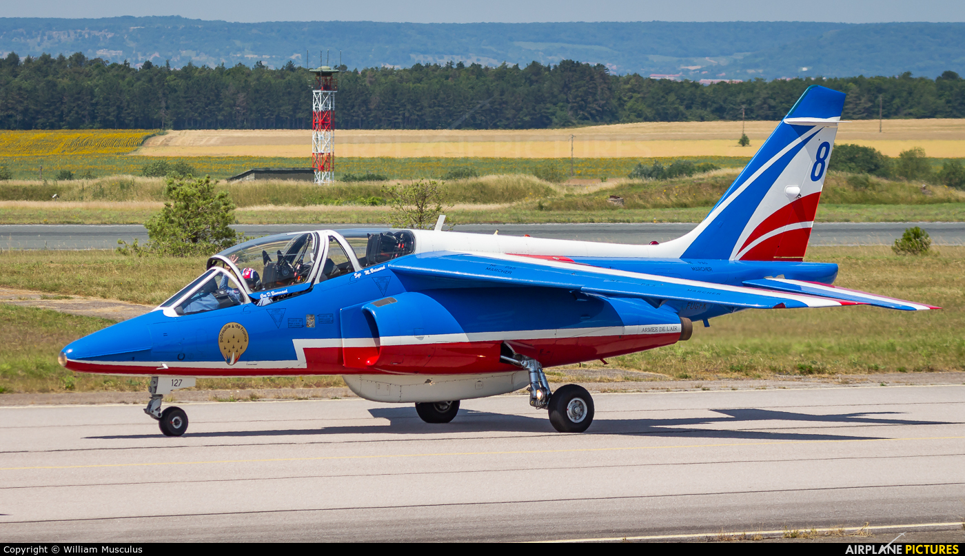 """France - Air Force """"Patrouille de France"""" F-UGFK aircraft at Nancy - Ochey AB"""