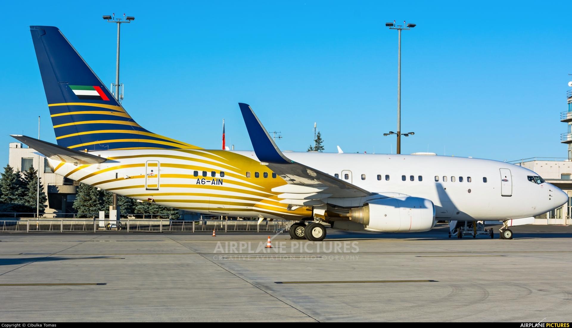 Royal Jet A6-AIN aircraft at Prague - Václav Havel