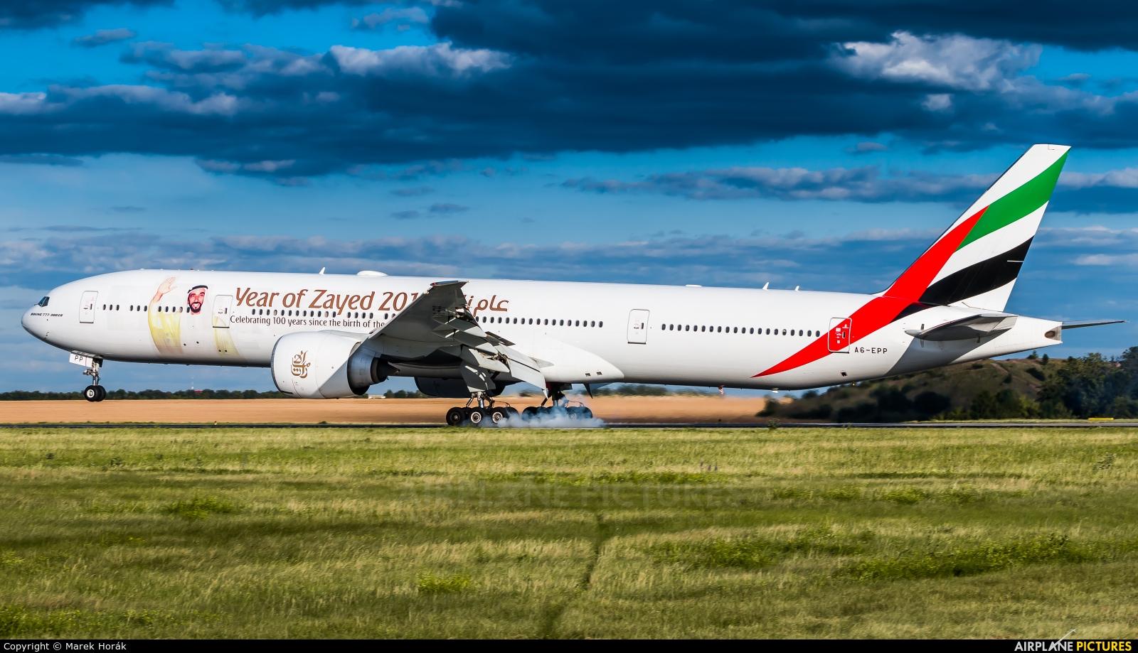 Emirates Airlines A6-EPP aircraft at Prague - Václav Havel