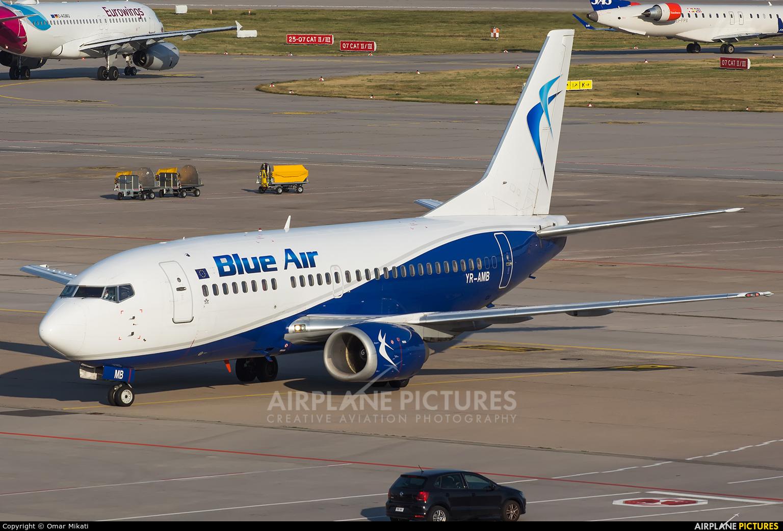 Blue Air YR-AMB aircraft at Stuttgart
