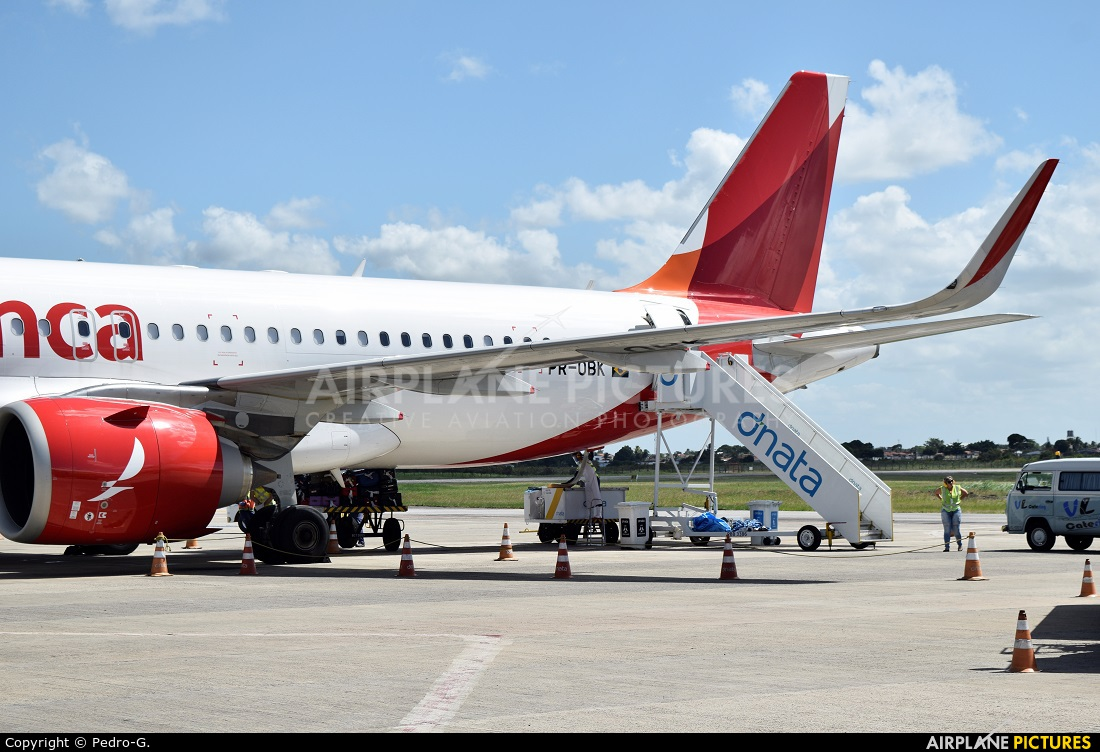 Avianca Brasil PR-OBK aircraft at João Pessoa Bayuex
