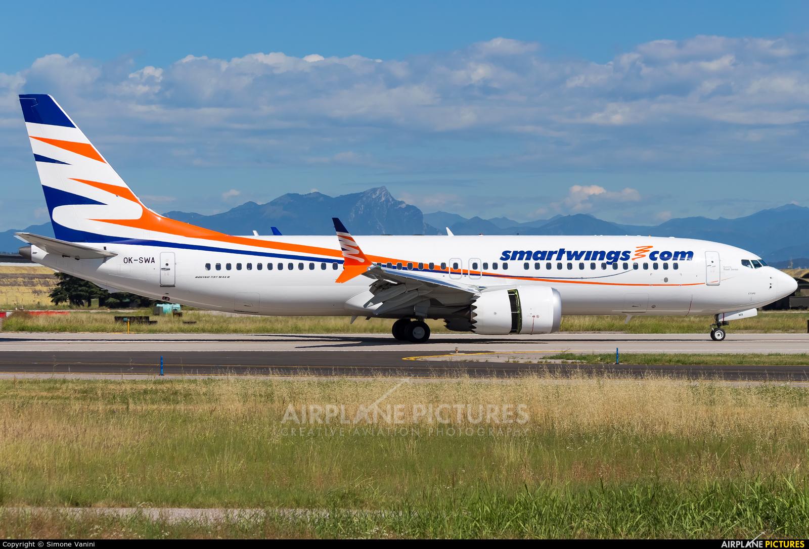 SmartWings OK-SWA aircraft at Verona - Villafranca