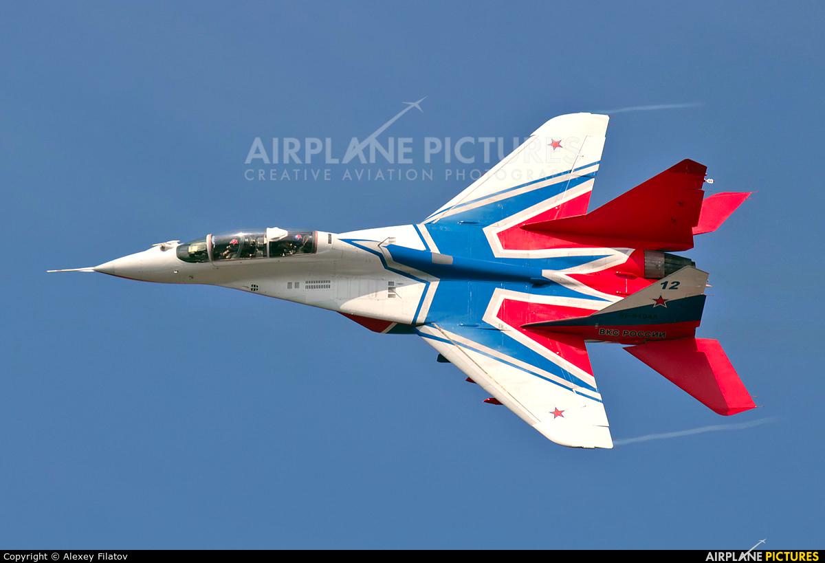 "Russia - Air Force ""Strizhi"" 12 BLUE aircraft at Lipetsk"
