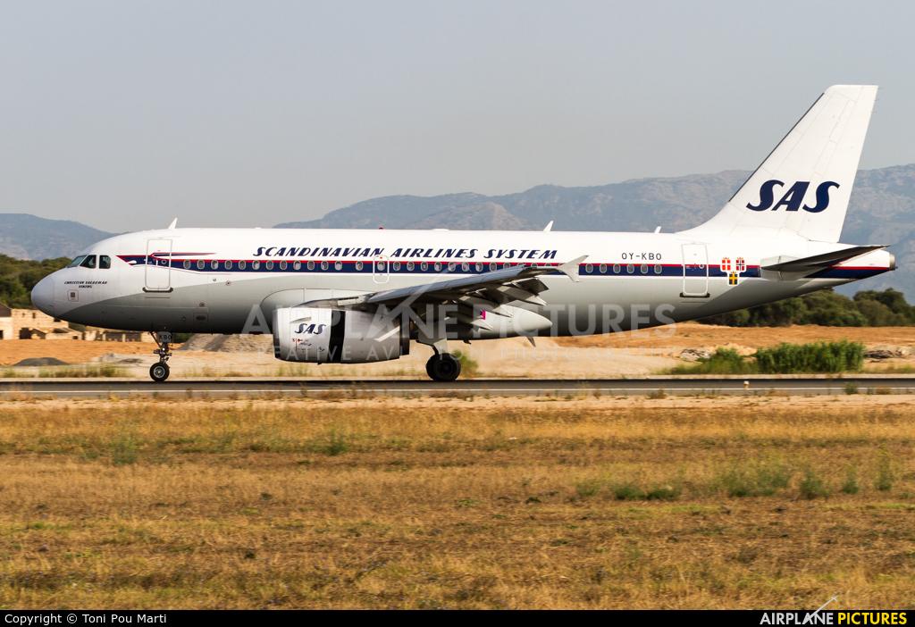 SAS - Scandinavian Airlines OY-KBO aircraft at Palma de Mallorca