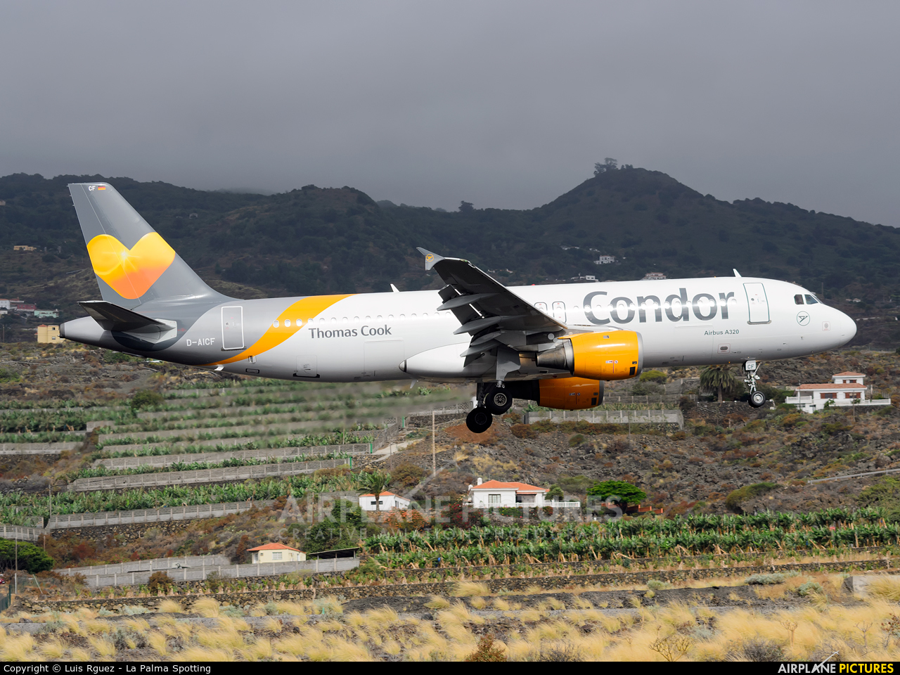 Condor D-AICF aircraft at Santa Cruz de La Palma
