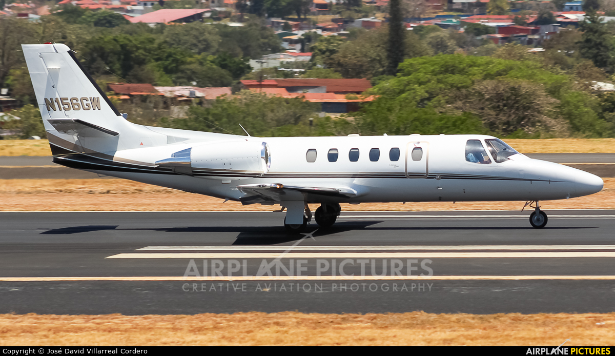 Private N156GW aircraft at San Jose - Juan Santamaría Intl