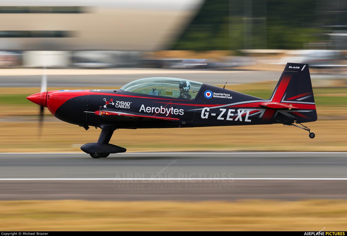 "2 Excel Aviation ""The Blades Aerobatic Team"" G-ZEXL aircraft at Farnborough"