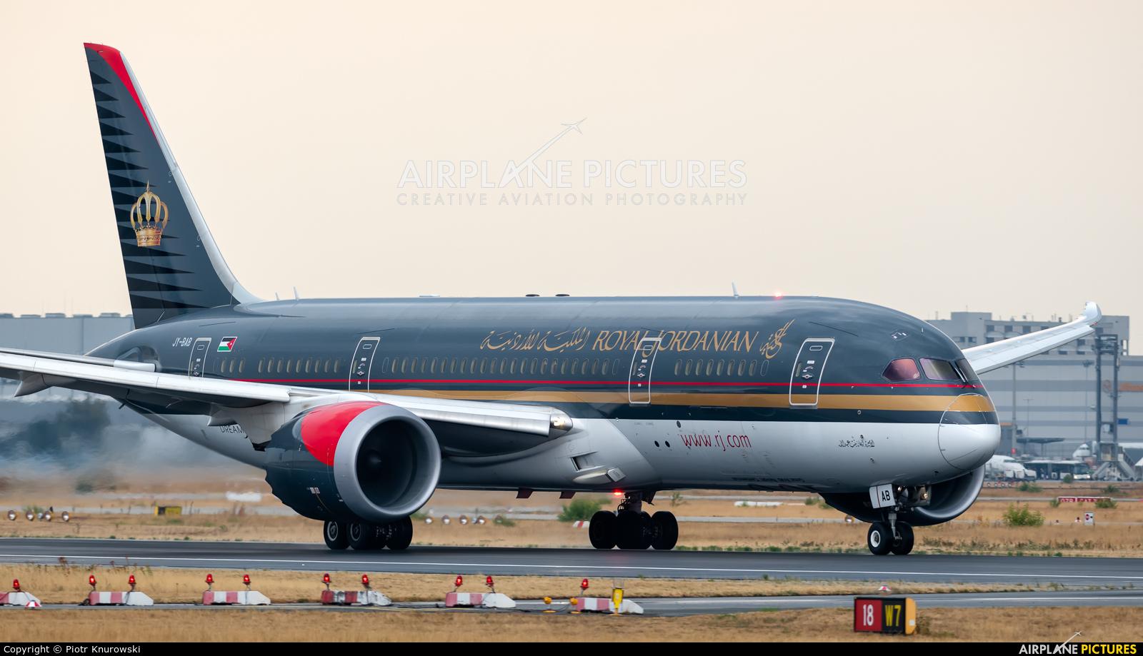Royal Jordanian JY-BAB aircraft at Frankfurt