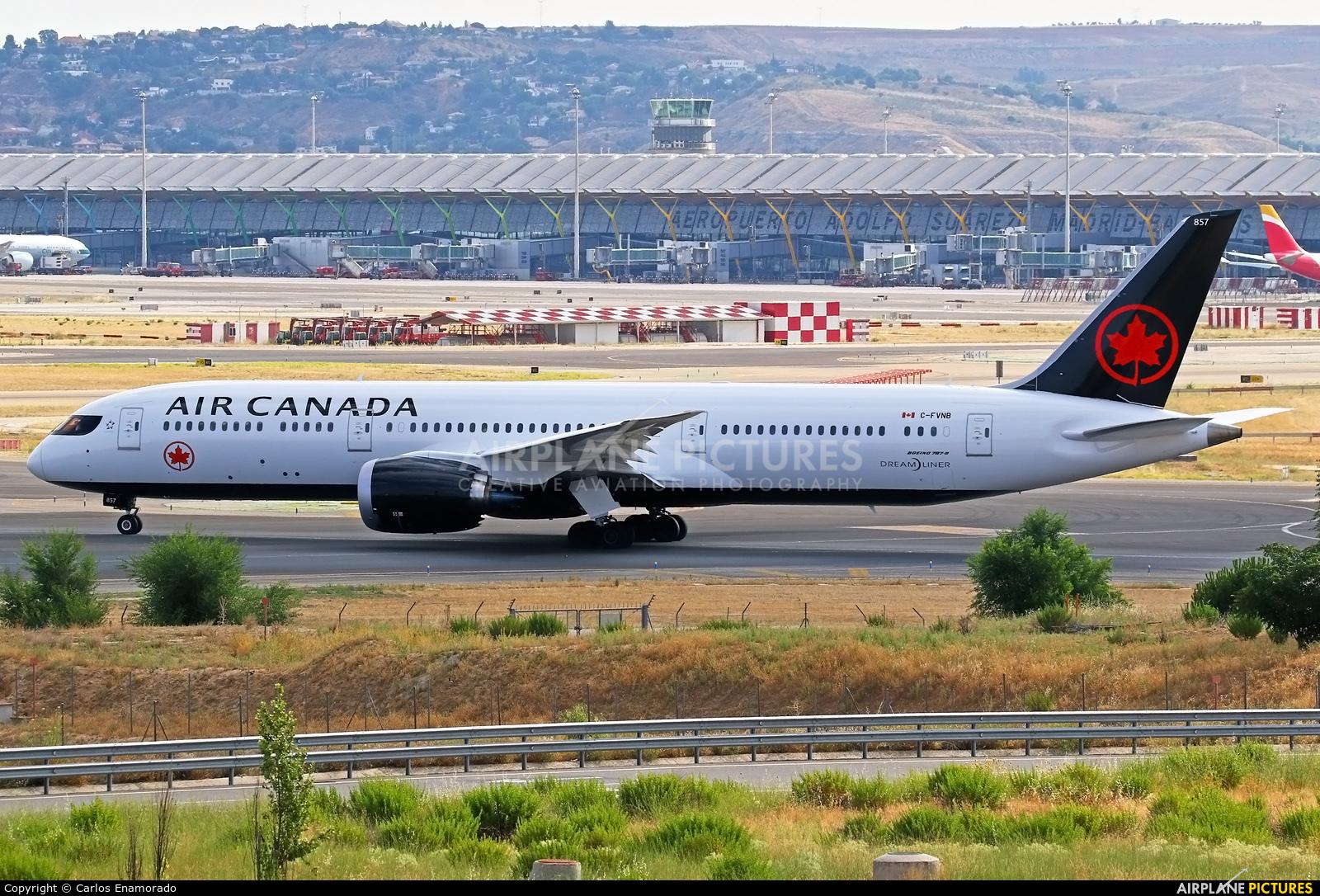 Air Canada C-FVNB aircraft at Madrid - Barajas
