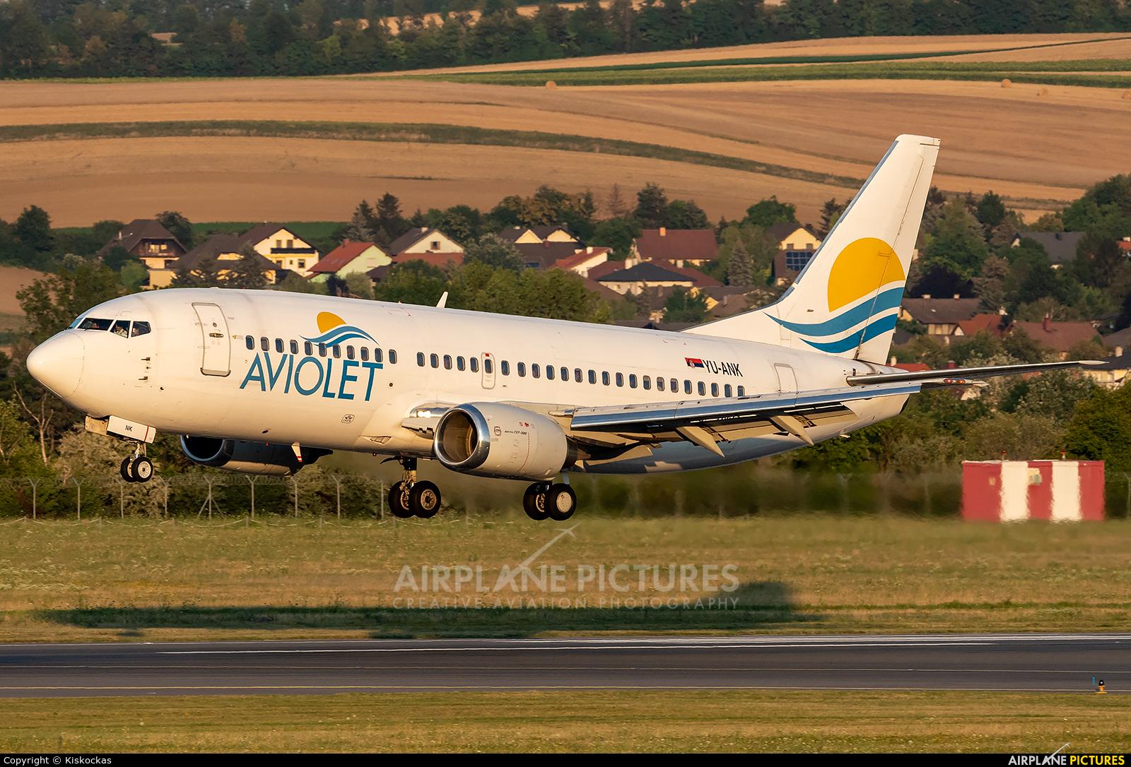Aviolet YU-ANK aircraft at Vienna - Schwechat