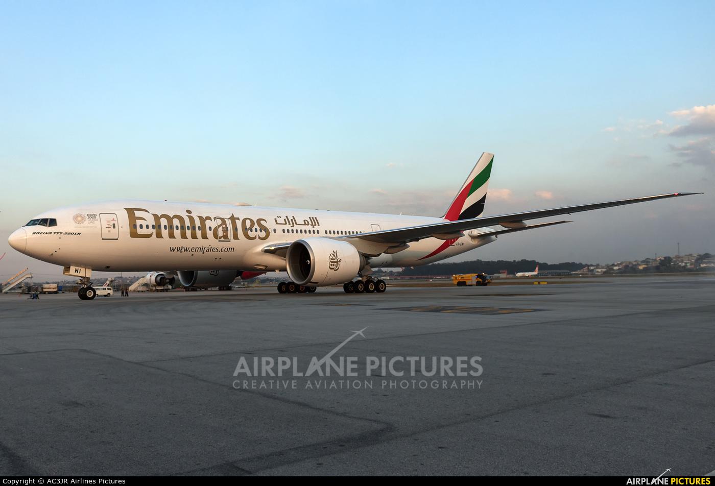 Emirates Airlines A6-EWI aircraft at São Paulo - Guarulhos
