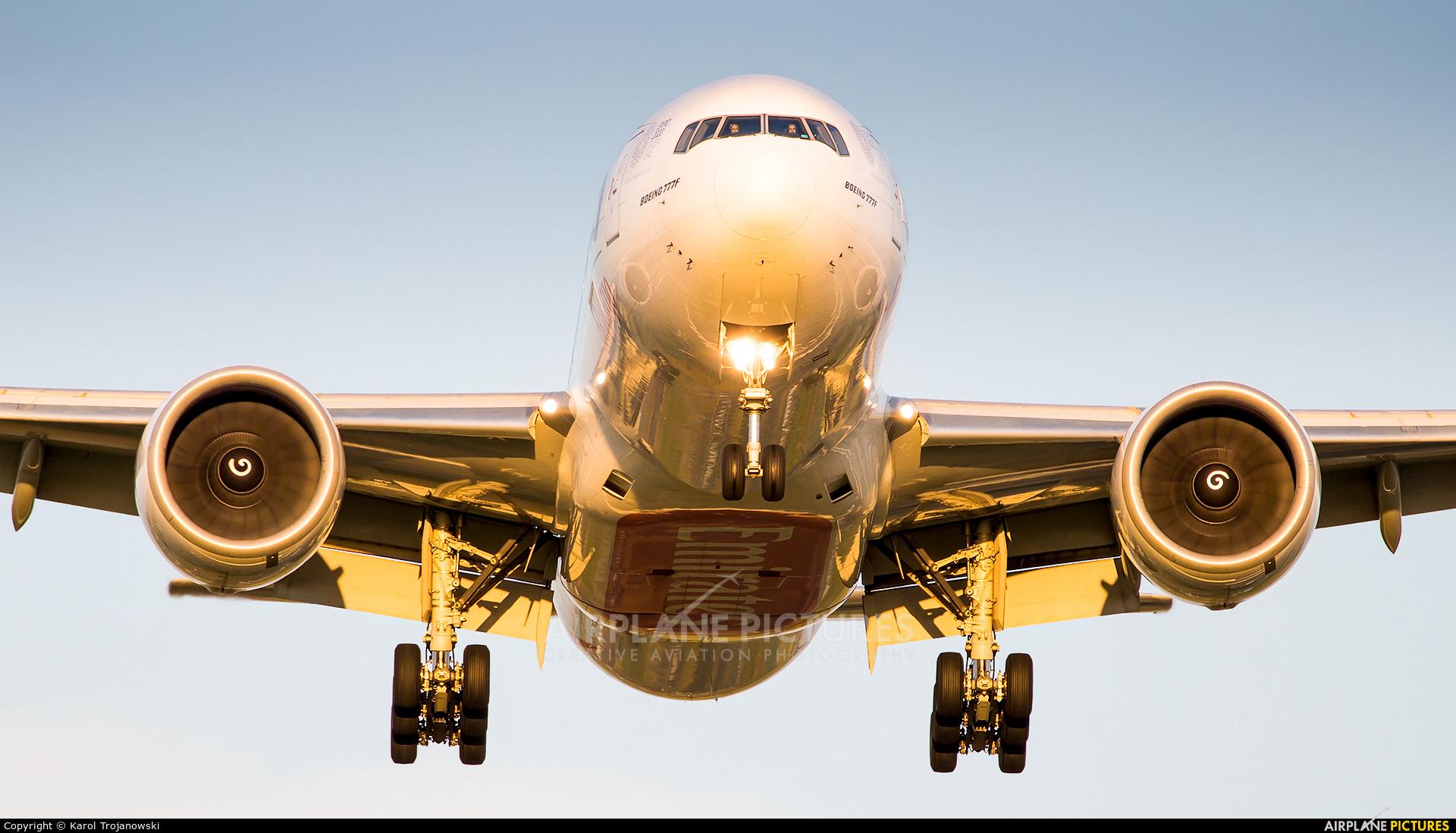 Emirates Sky Cargo A6-EFM aircraft at Amsterdam - Schiphol