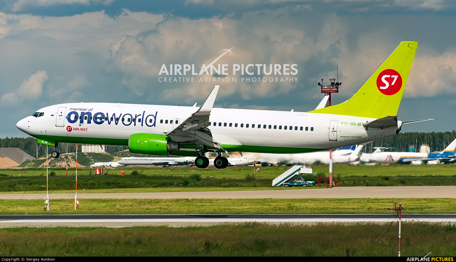 S7 Airlines VQ-BKW aircraft at Moscow - Domodedovo