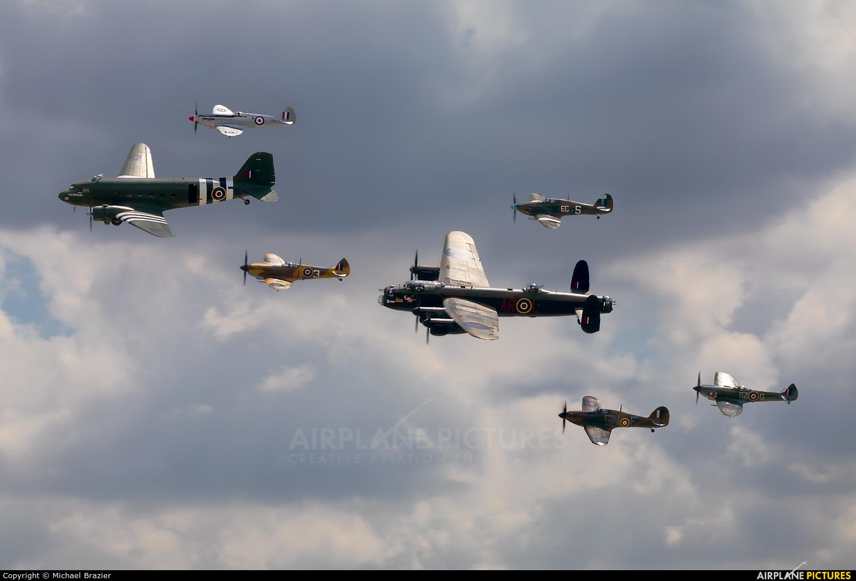 "Royal Air Force ""Battle of Britain Memorial Flight&quot ZA947 aircraft at Fairford"