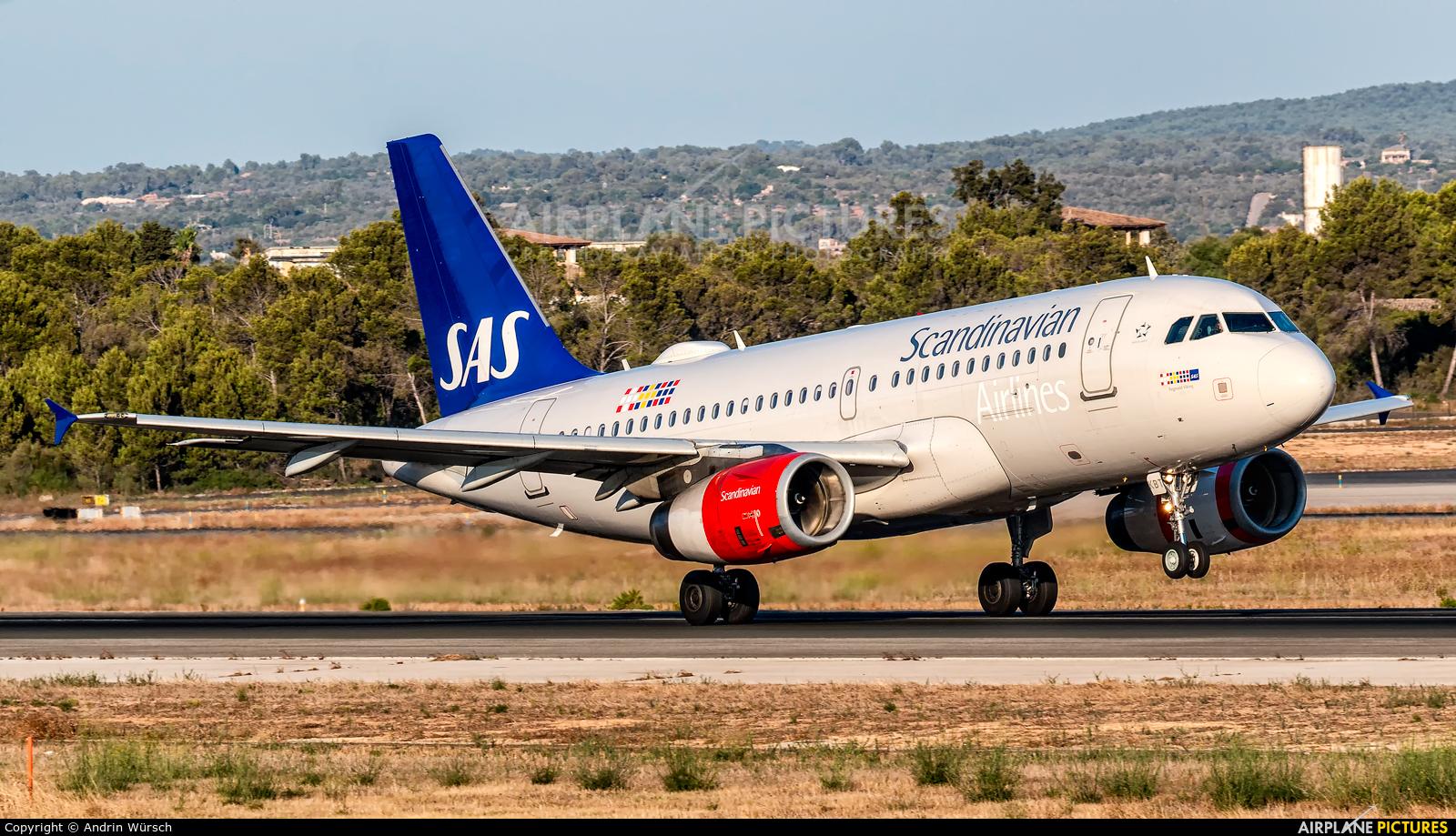 SAS - Scandinavian Airlines OY-KBT aircraft at Palma de Mallorca