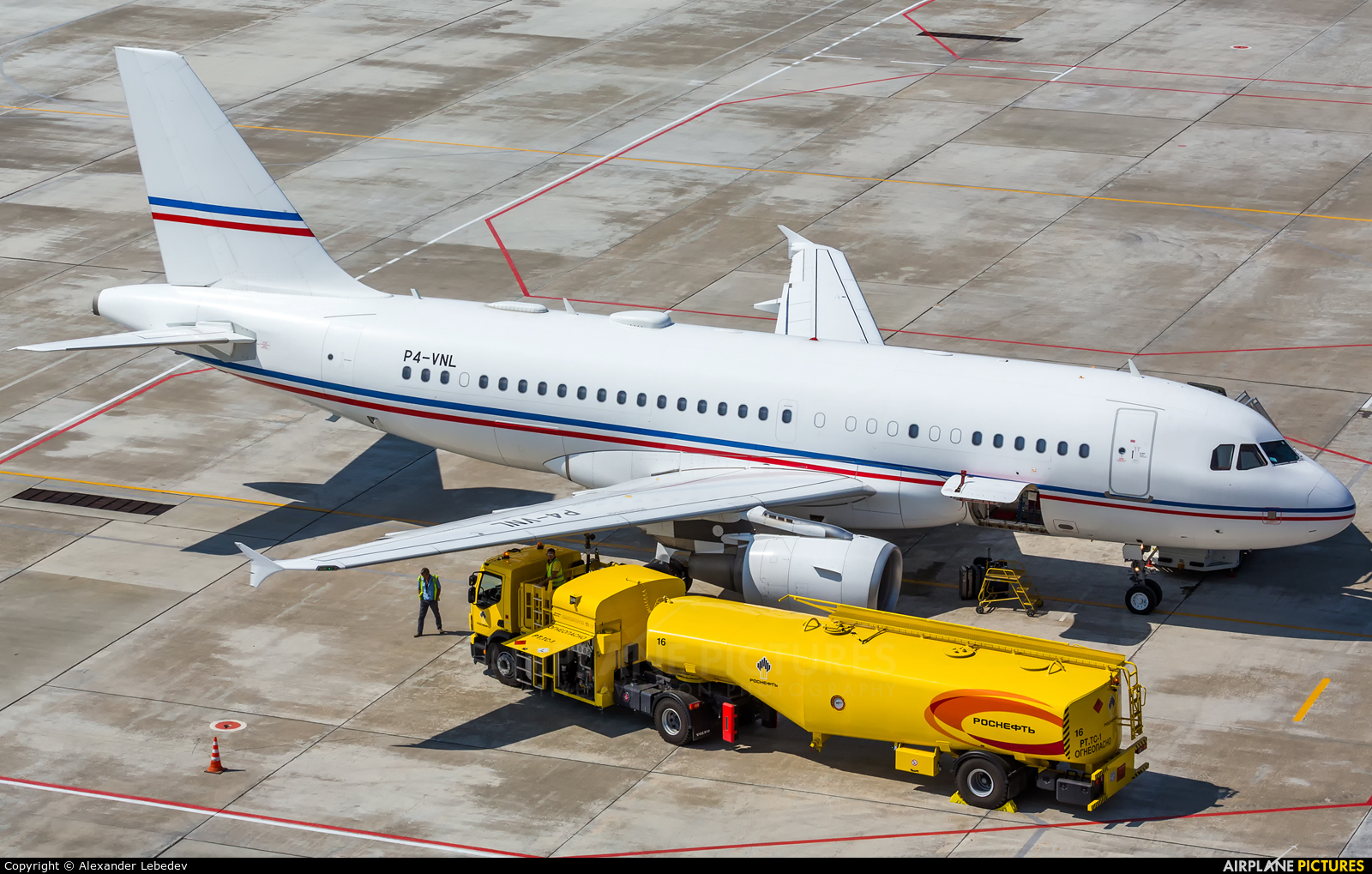 Global Jet Luxembourg P4-VNL aircraft at Sochi Intl