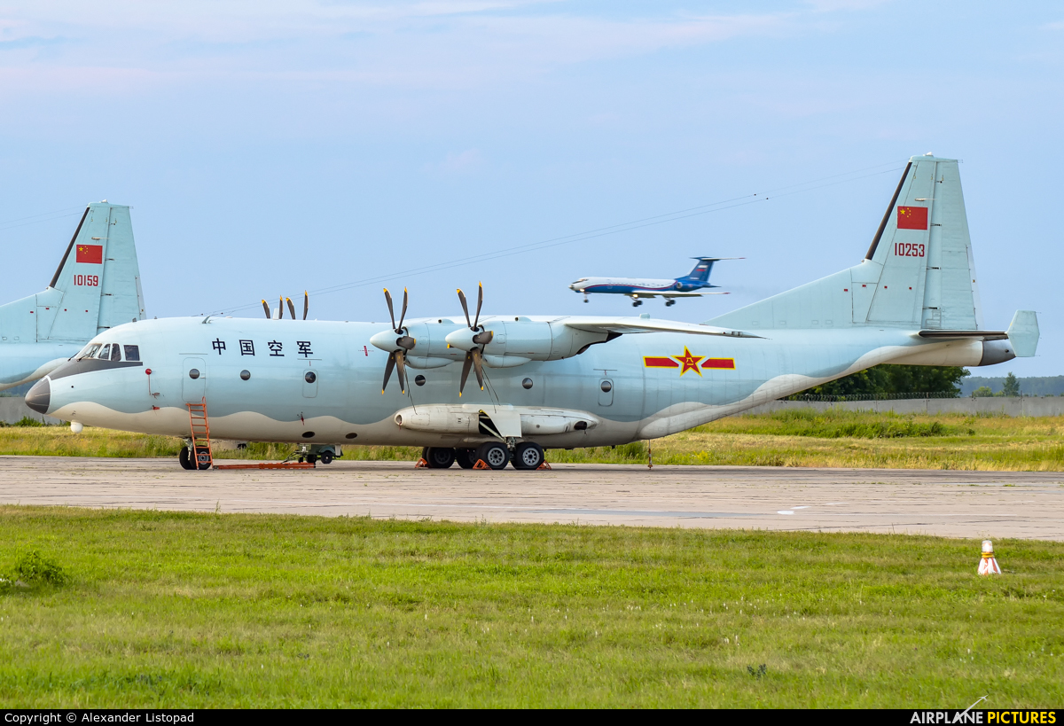 China - Air Force 10253 aircraft at Novosibirsk