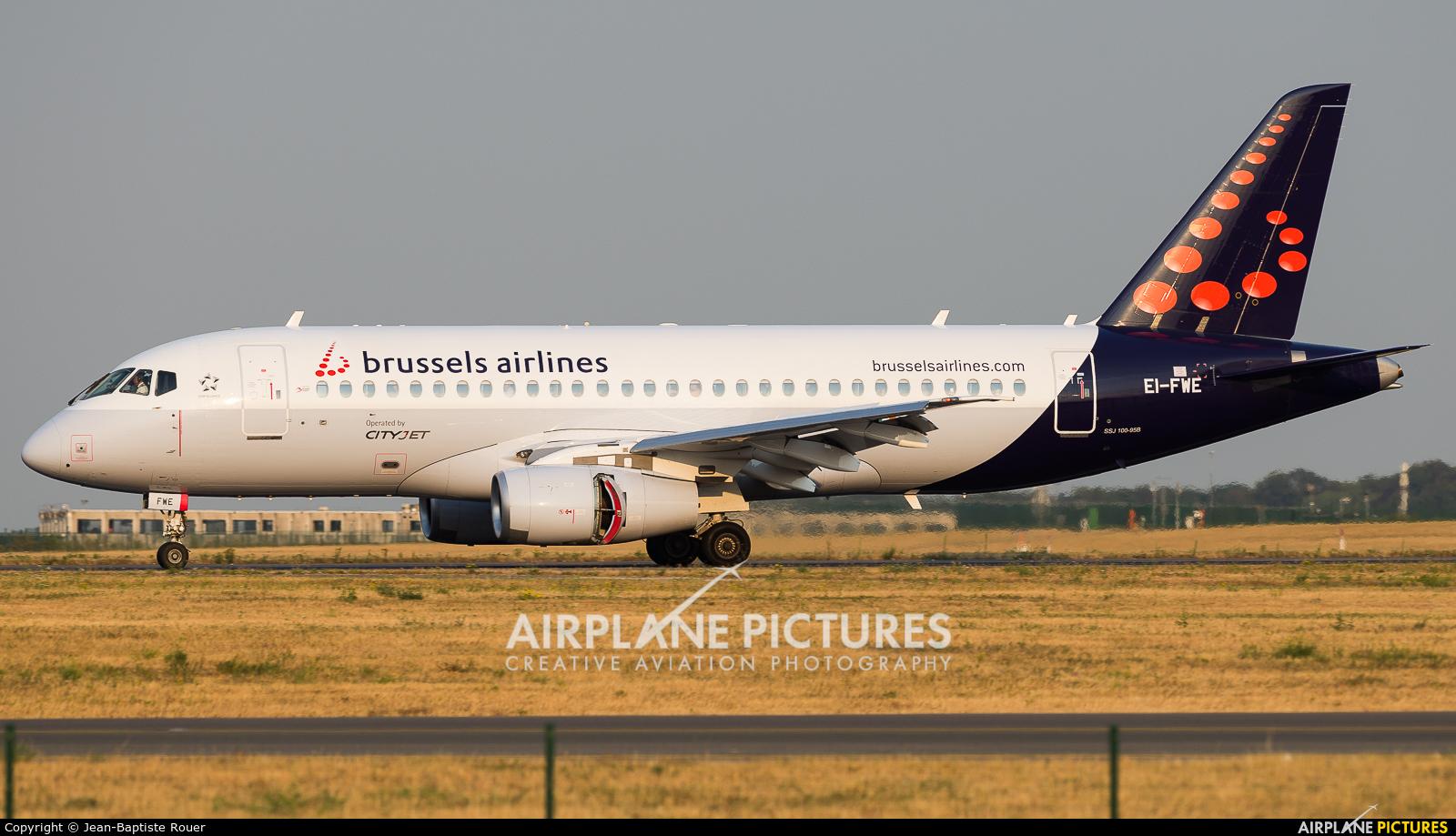 CityJet EI-FWE aircraft at Brussels - Zaventem