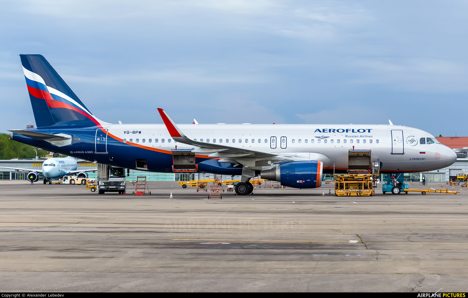 Aeroflot VQ-BPW aircraft at Krasnodar