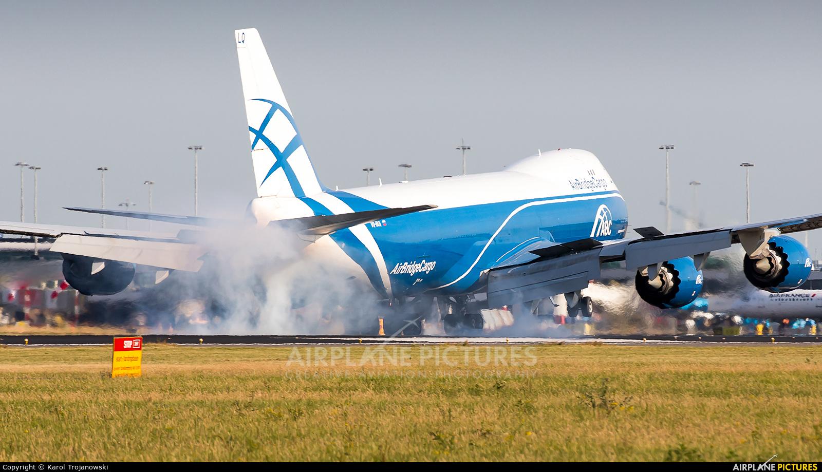 Air Bridge Cargo VQ-BLQ aircraft at Amsterdam - Schiphol