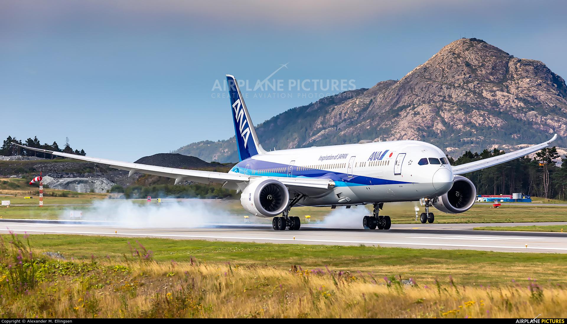 ANA - All Nippon Airways JA880A aircraft at Bergen - Flesland