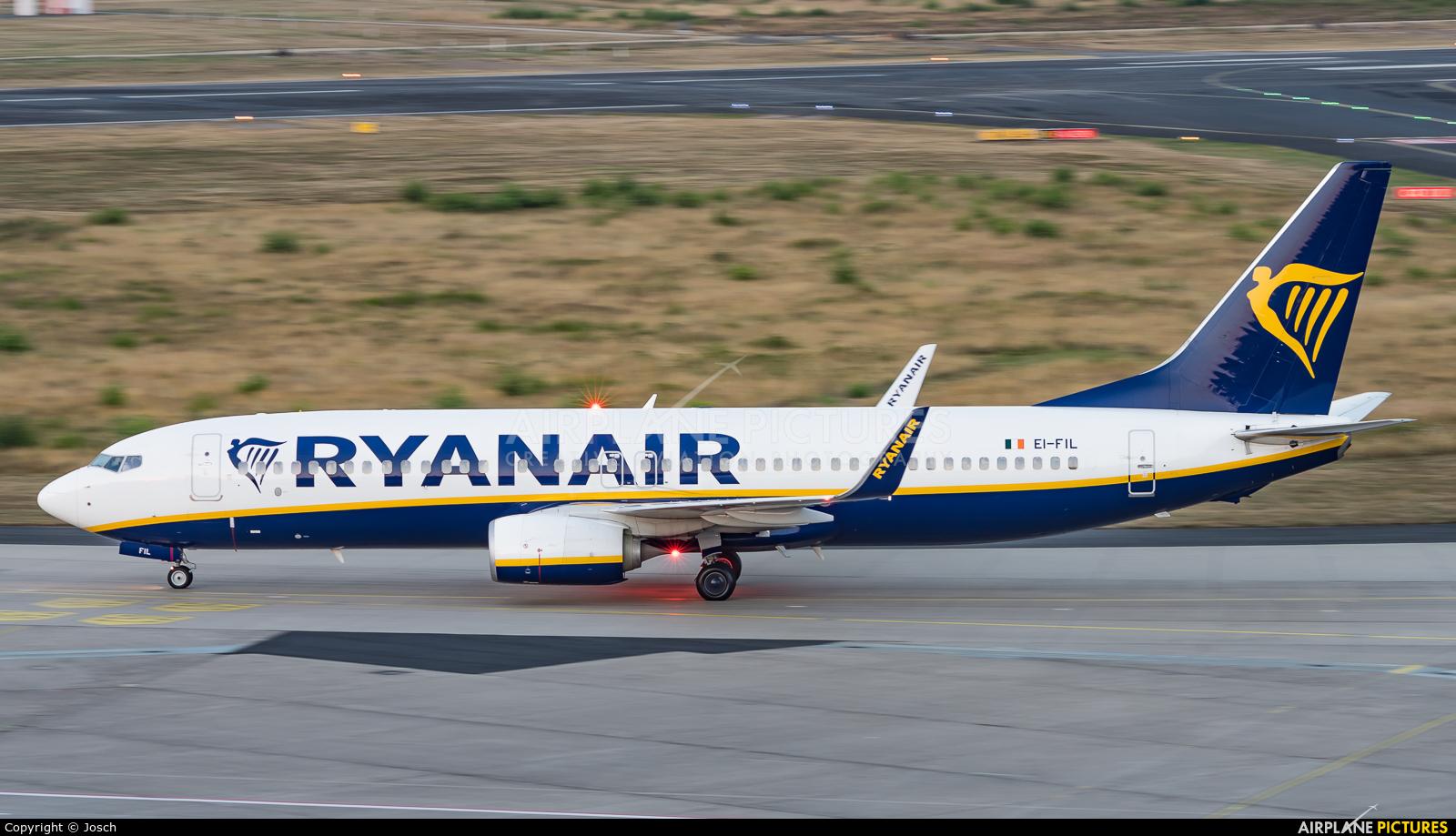 Ryanair EI-FIL aircraft at Cologne Bonn - Konrad Adenauer