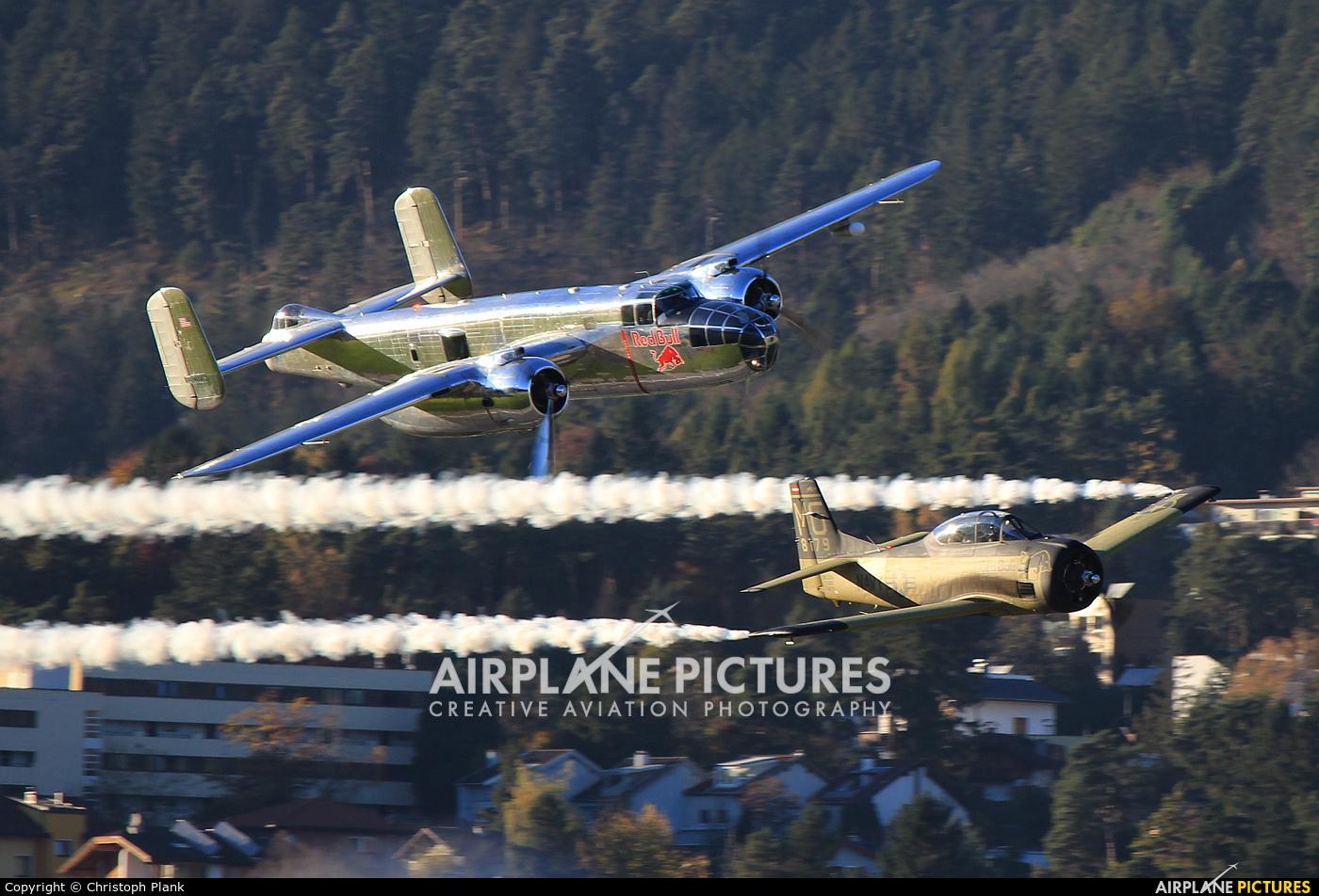 The Flying Bulls N6123C aircraft at Innsbruck