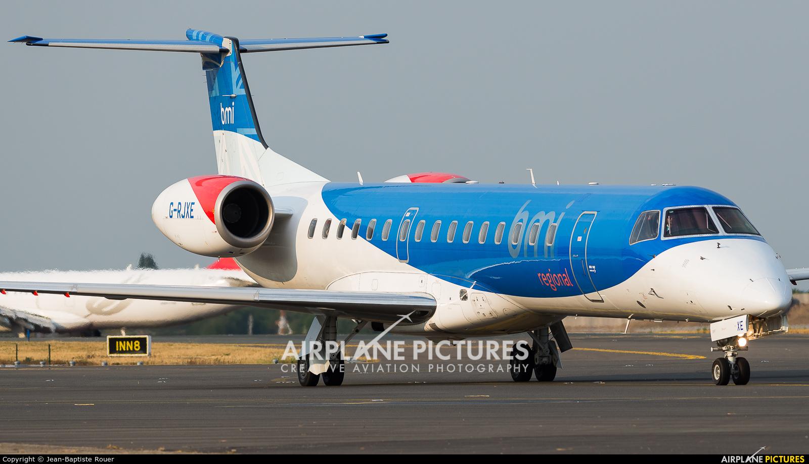 BMI Regional G-RJXE aircraft at Brussels - Zaventem