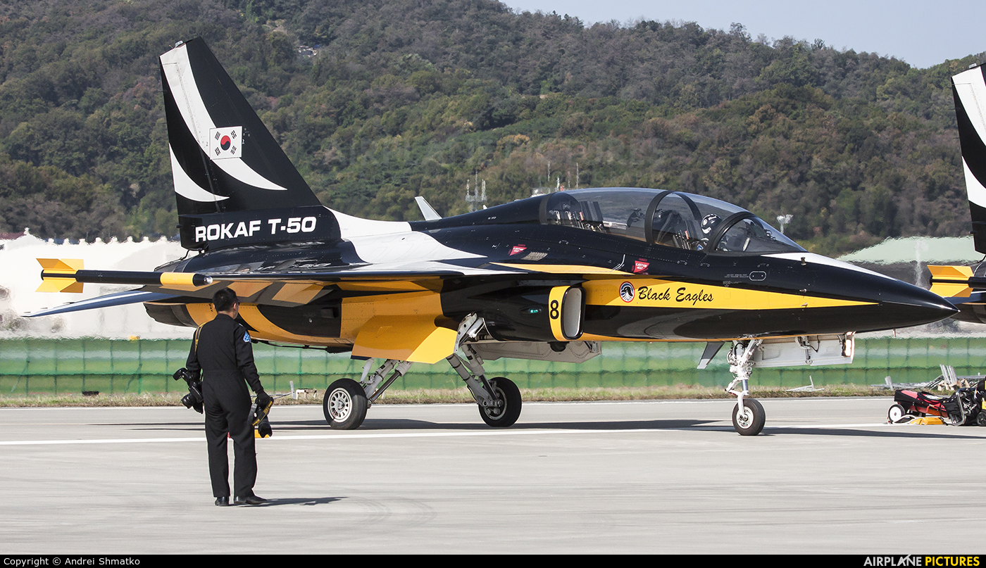 Korea (South) - Air Force: Black Eagles 10-0058 aircraft at Seongnam AB