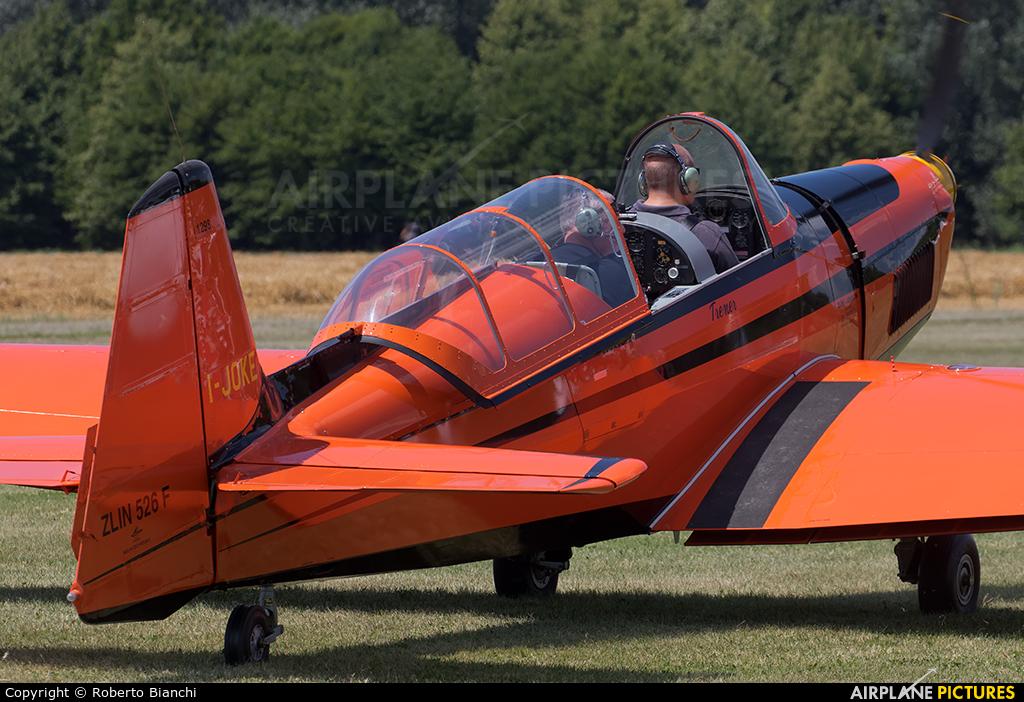 Private I-JOKE aircraft at Montagnana