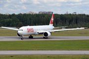 Swiss Boeing 777 with national football team visited St. Petersburg title=