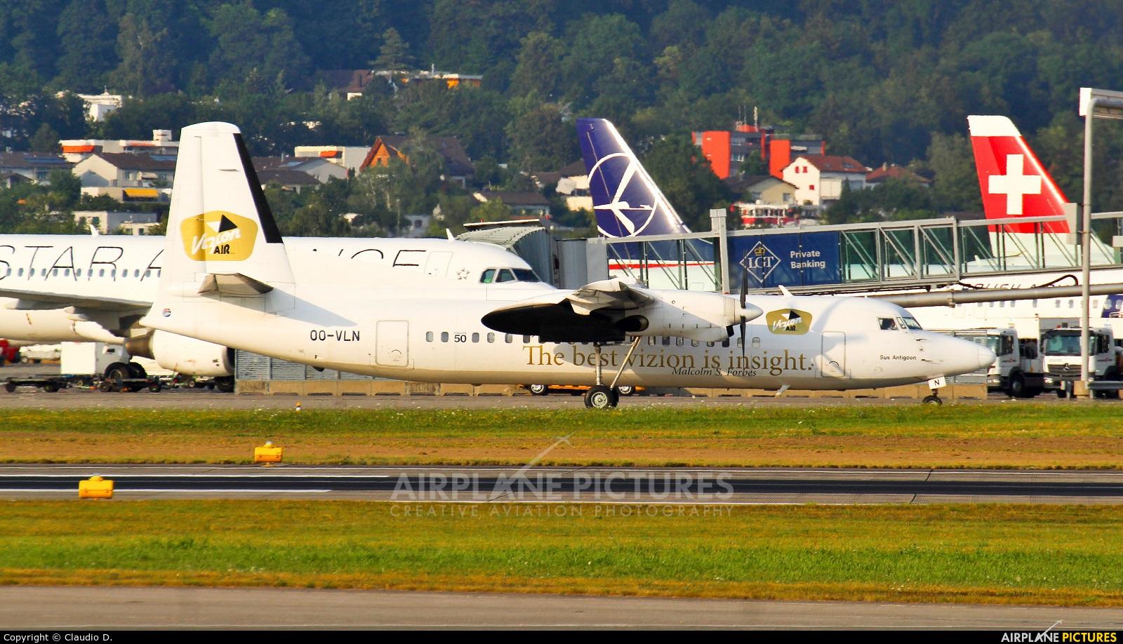 Vizion Air OO-VLN aircraft at Zurich