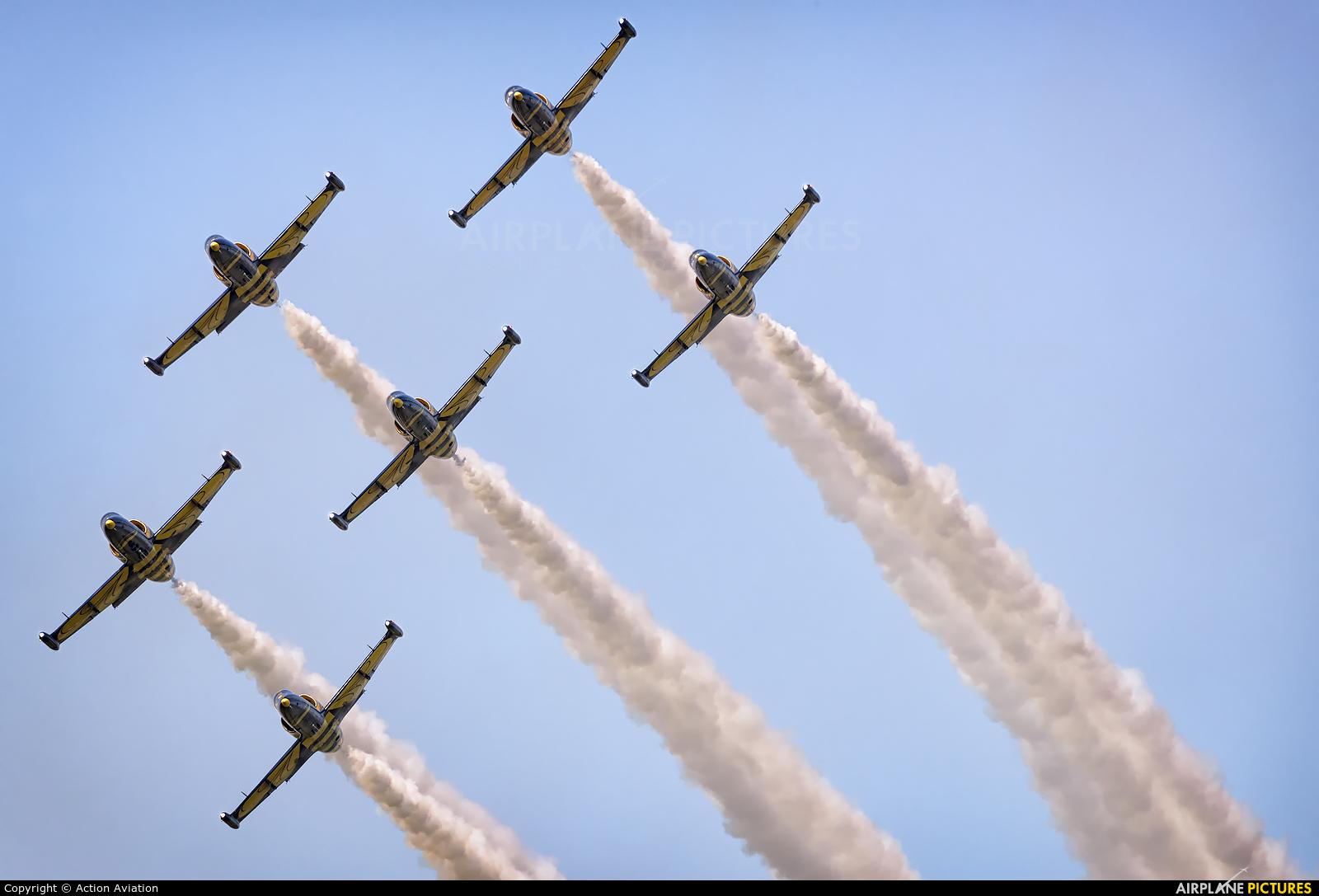 Baltic Bees Jet Team YL-KSH aircraft at Mielec