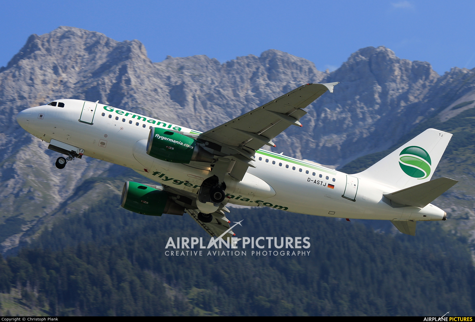 Germania D-ASTJ aircraft at Innsbruck
