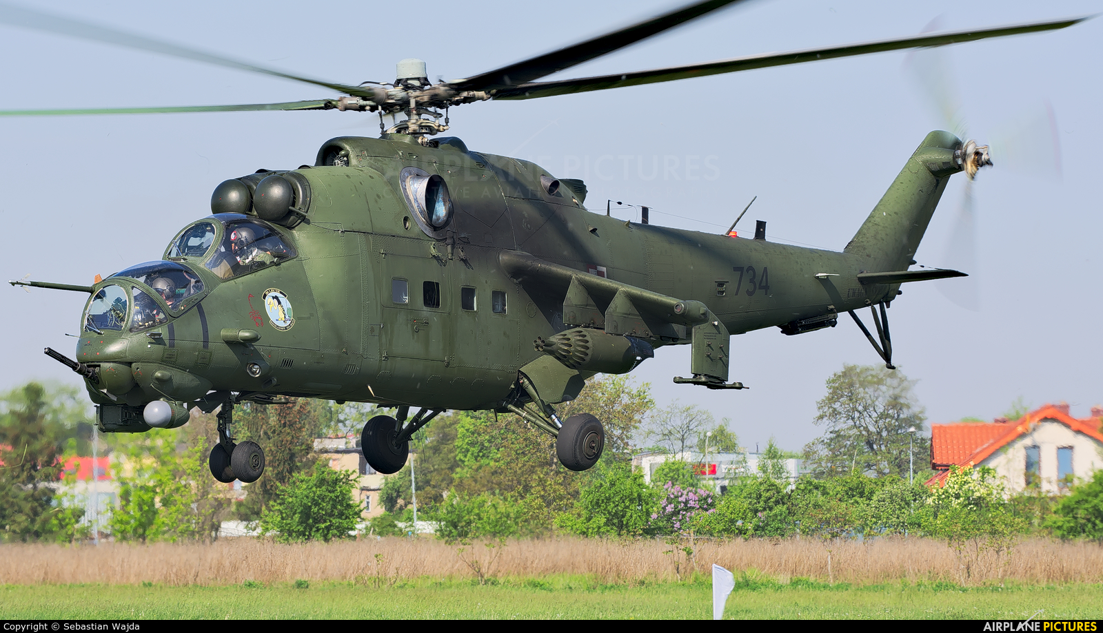 Poland - Army 734 aircraft at Inowrocław