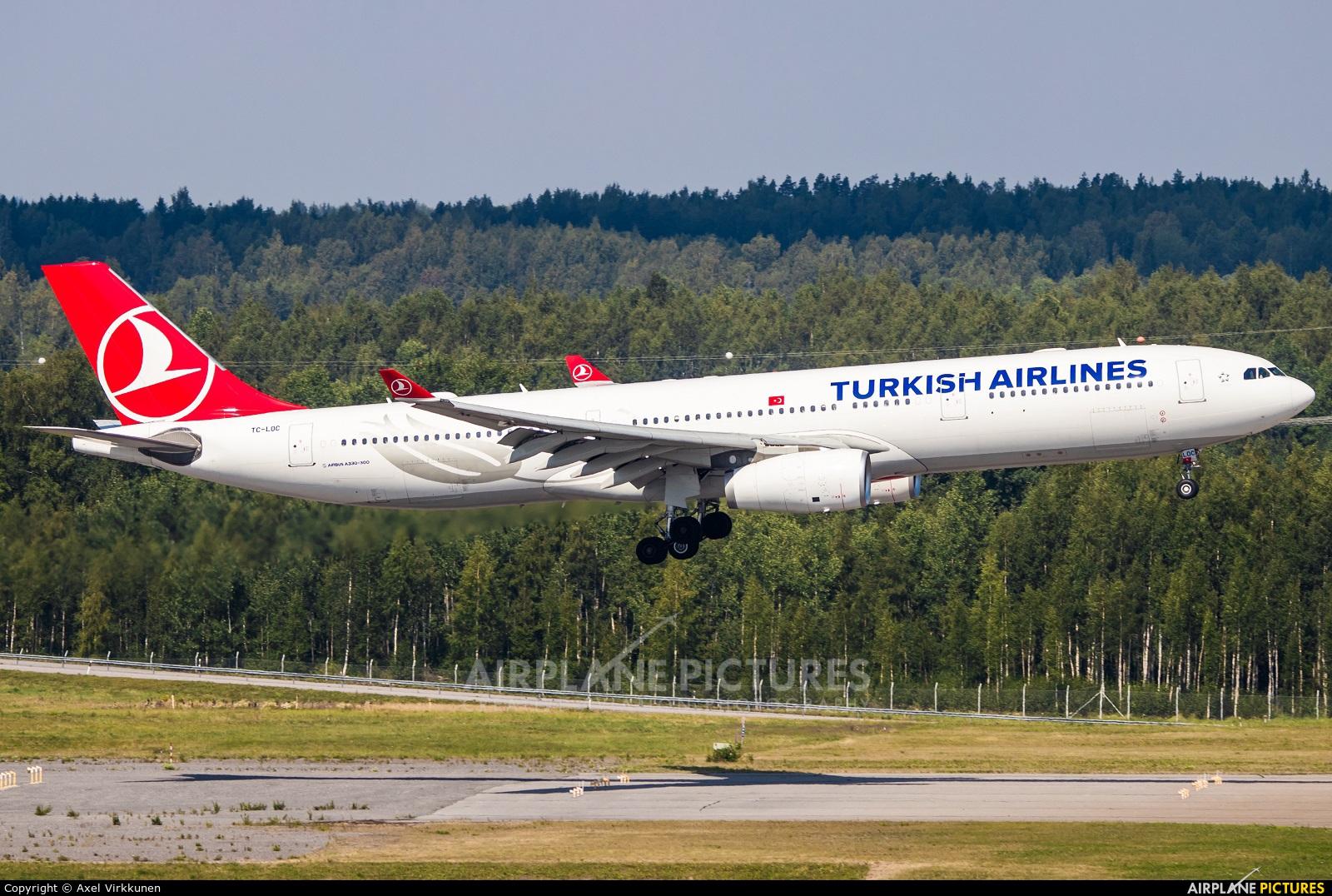 Turkish Airlines TC-LOC aircraft at Helsinki - Vantaa