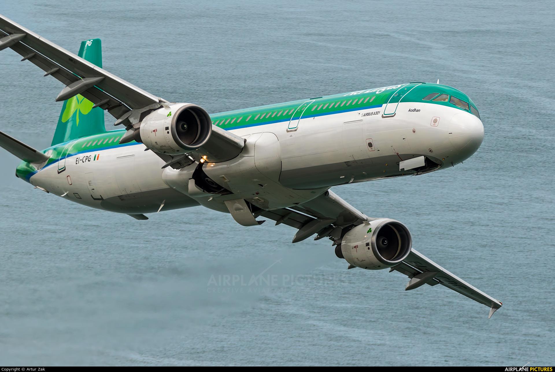 Aer Lingus EI-CPG aircraft at Bray - Off Airport