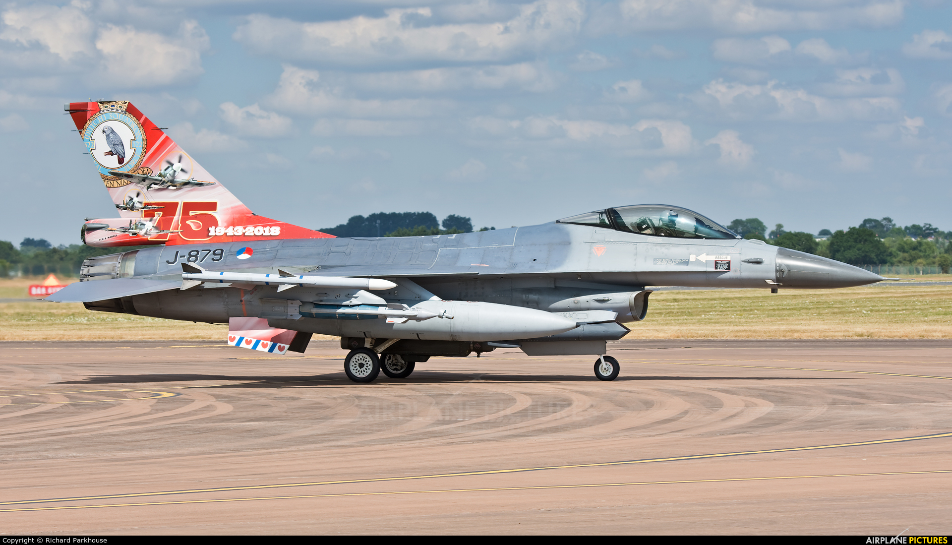 Netherlands - Air Force J-879 aircraft at Fairford