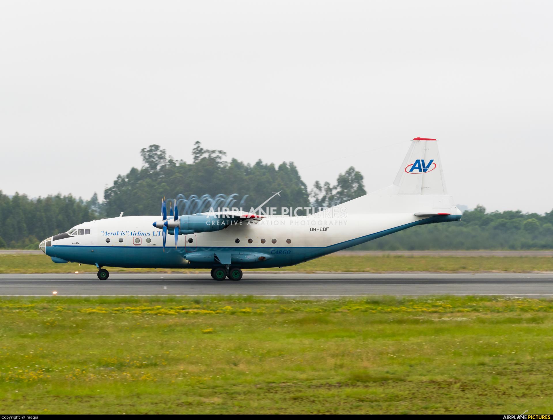 AeroVis Airlines UR-CBF aircraft at Santiago de Compostela