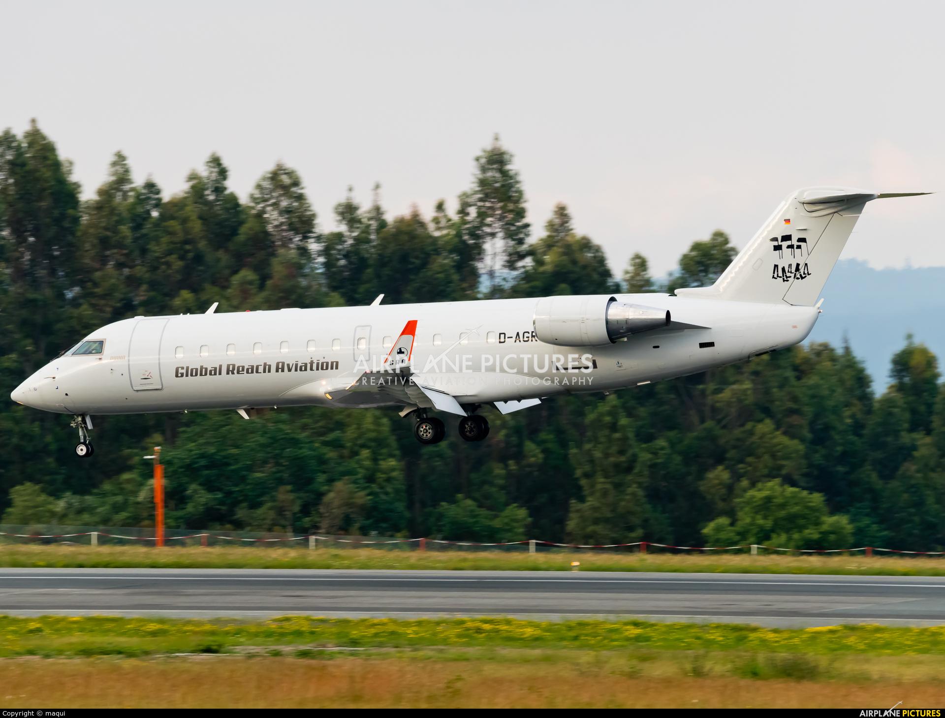 Global Reach Aviation D-AGRA aircraft at Santiago de Compostela