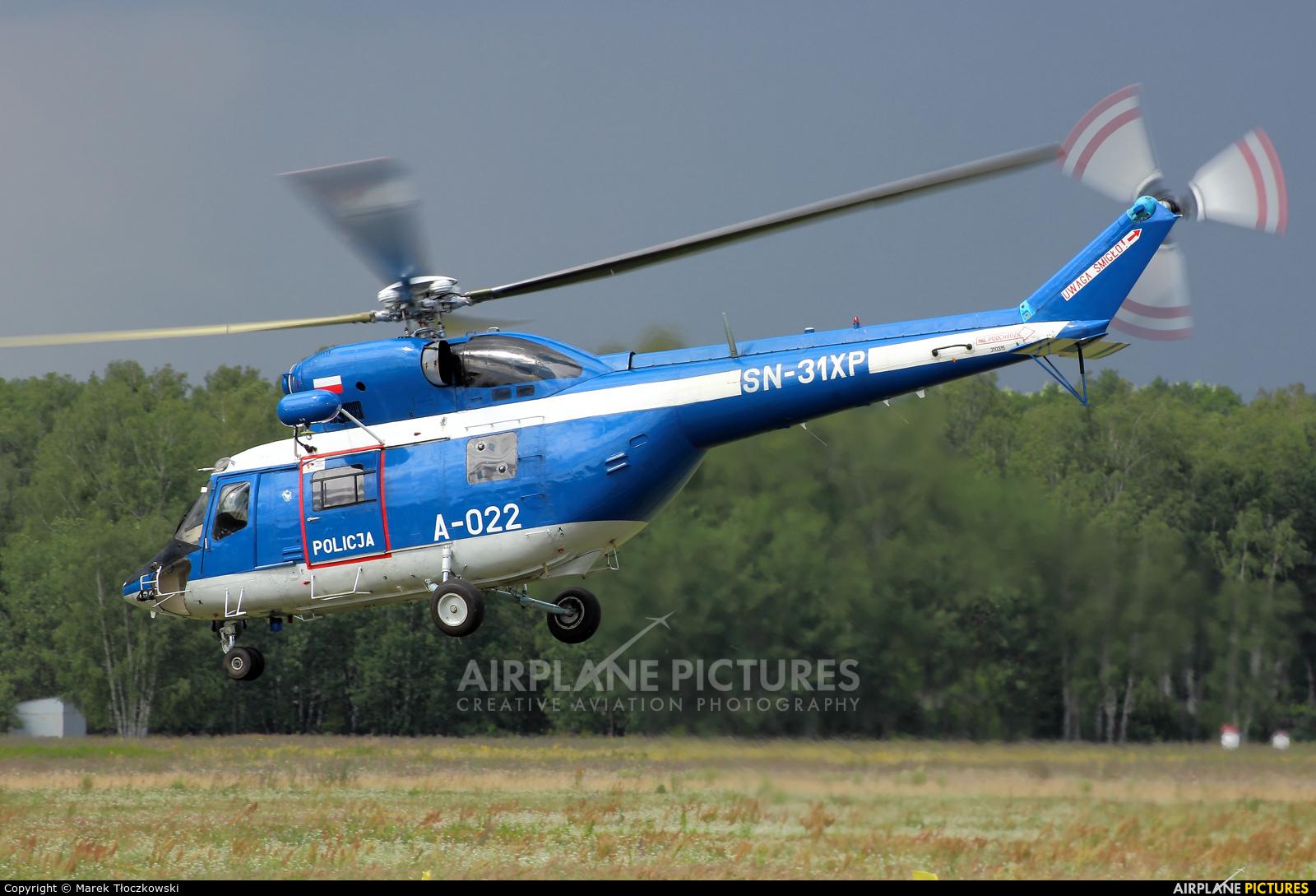 Poland - Police SN-31XP aircraft at Warsaw - Babice