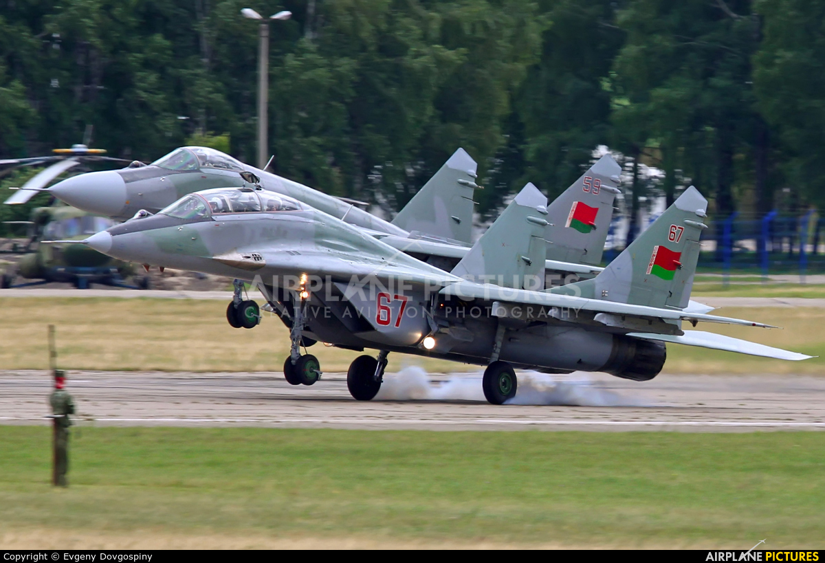 Belarus - Air Force 67RED aircraft at Minsk Machulishchi