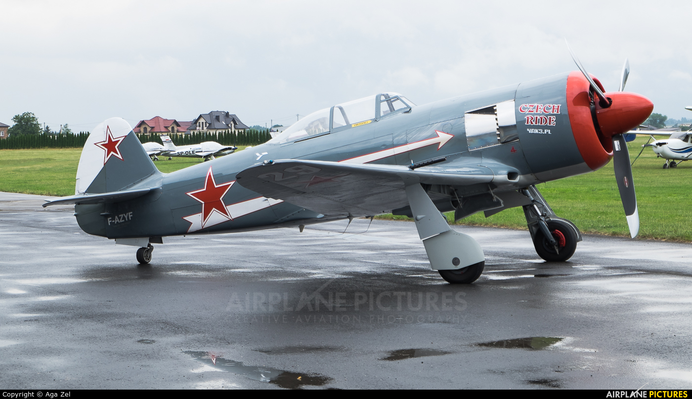 Private F-AZYF aircraft at Kraków - Pobiednik Wielki