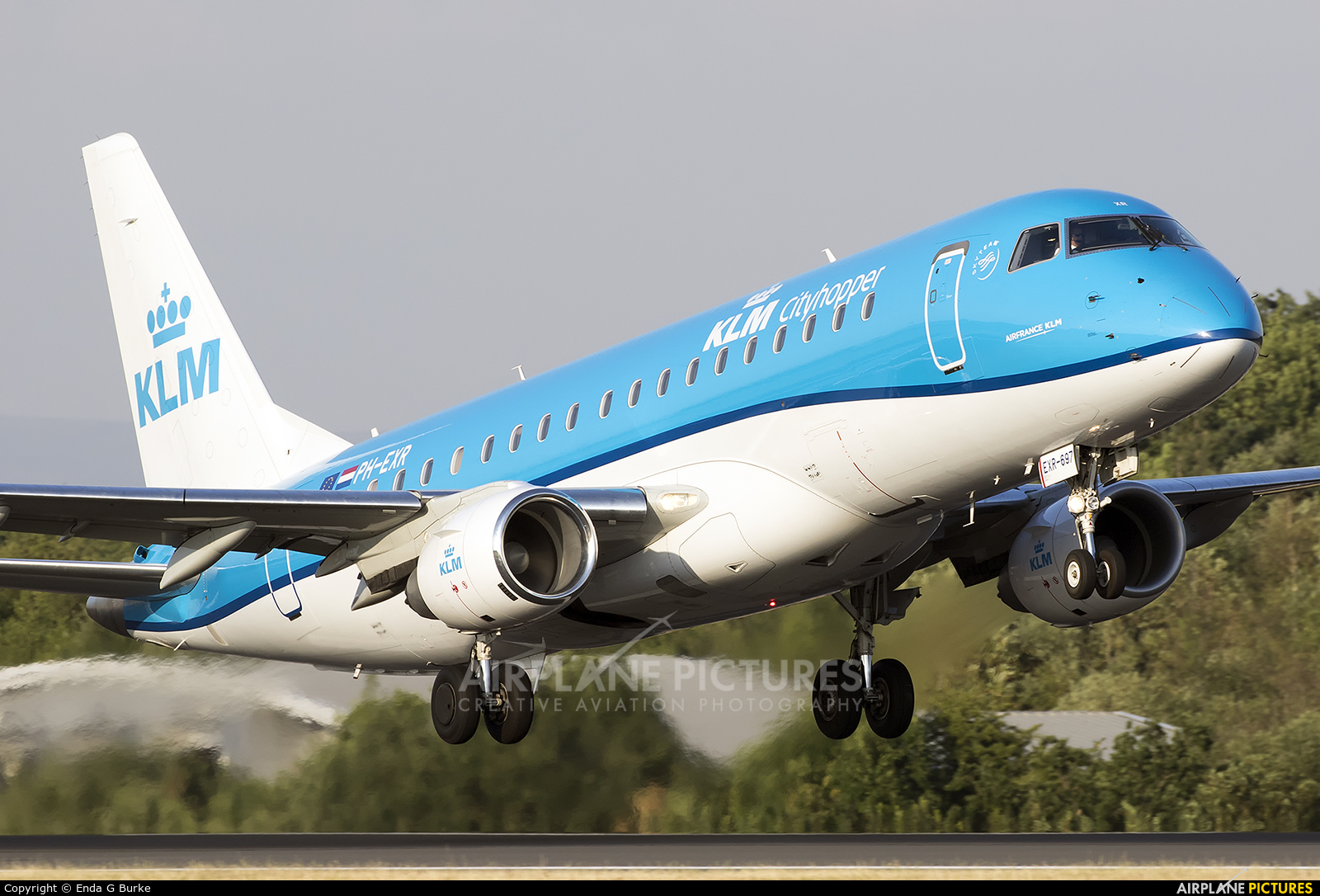 KLM Cityhopper PH-EXR aircraft at Manchester