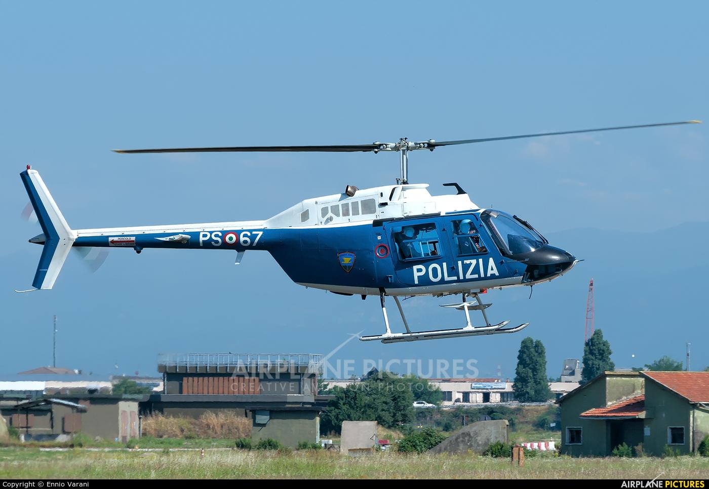 Italy - Police PS-67 aircraft at Verona - Villafranca