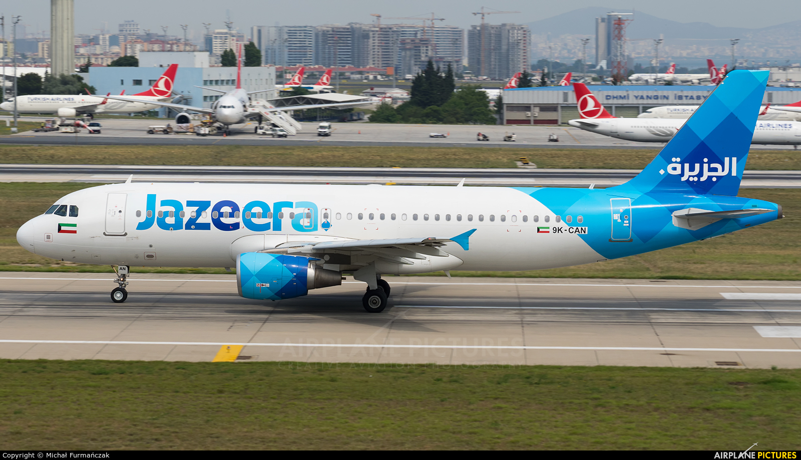 Jazeera Airways 9K-CAN aircraft at Istanbul - Ataturk