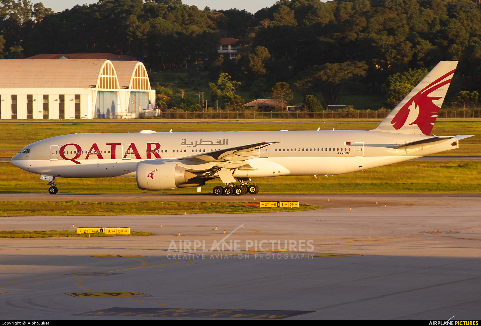 Qatar Airways A7-BBC aircraft at São Paulo - Guarulhos