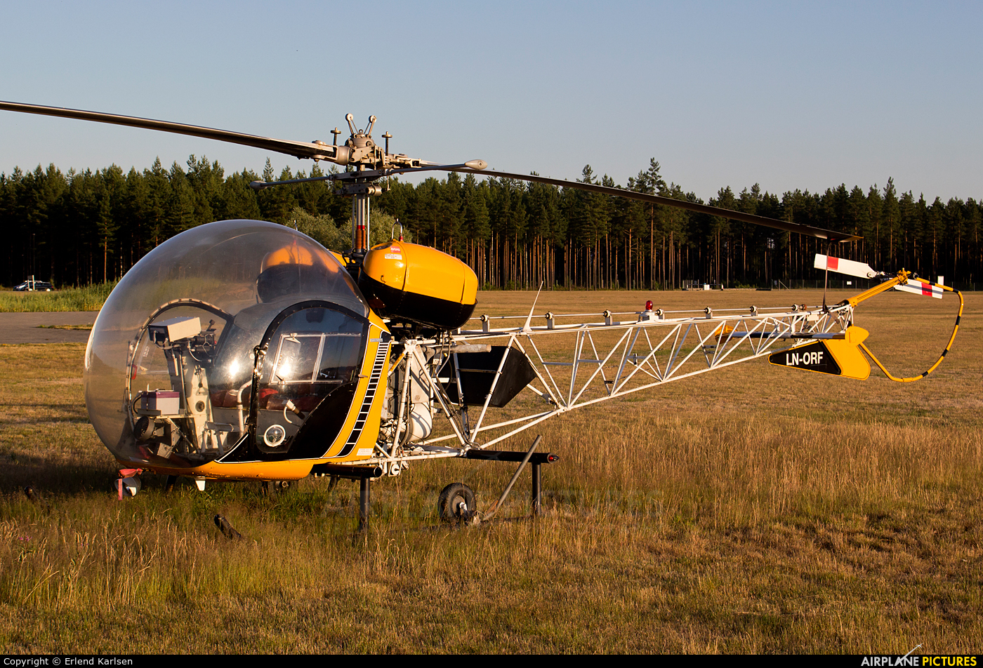 Private LN-ORF aircraft at Eggemoen