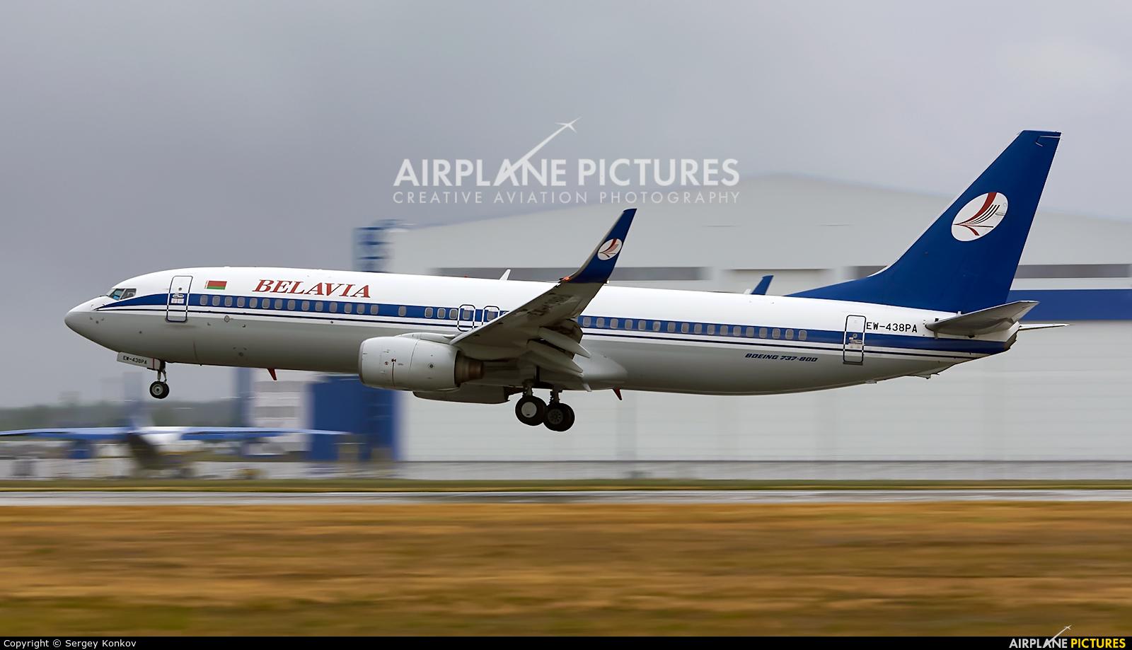 Belavia EW-438PA aircraft at Minsk Intl